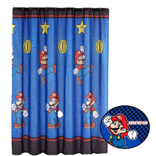 amazon com 2pc super mario brothers shower curtain and bath mat amazon com 2pc super mario brothers shower curtain and bath mat set nintendo simply the best bathroom accessories home kitchen