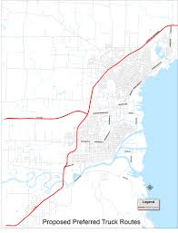 Truck Route Maps Member Consult Municipal Designated Truck Route Ii Thunder Bay