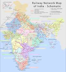 India Maps by Indian Railways Network Schematic Map Click For A High Resolution