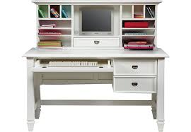 Computer Desks With Hutch Belmar White 2 Pc Desk And Hutch Desks Colors