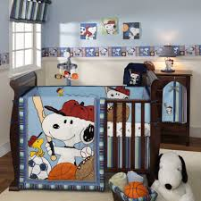 Snoopy Nursery Decor Comfortable Snoopy Baby Room Decoration In Blue Cool Snoopy Baby