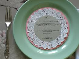 Diy Wedding Menu Cards Diy Wedding Place Cards U0026 Menus U2013 Doily Charger Marry Me Tampa