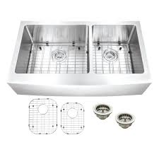 double basin apron front sink residential kitchen sinks cad75 com