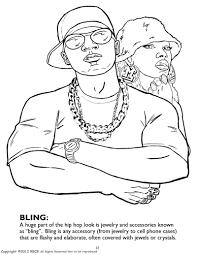 hip hop gangsta rap cute hip hop coloring book coloring page and