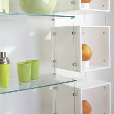 hanging shelving system contemporary glass for shops cable