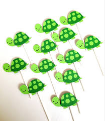 turtle baby shower decorations turtle cupcake toppers turtle theme tortoise theme turtle