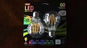 feit filament led 7watt clear light bulbs youtube