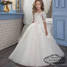 holy communion dress princess holy communion dress half sleeves gown