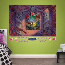 beauty u0026 beast stained glass mural wall decal by fathead