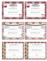 free printable christmas gift certificates 7 designs pick your