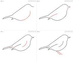 easy drawing bird drawing art collection