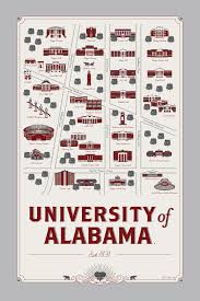 University Of Arkansas Campus Map University Of Alabama Map Alabama Roll Tide And Crimson Tide