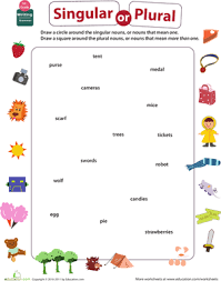 Plural Nouns Worksheets Get Into Grammar Singular Or Plural Nouns Worksheet
