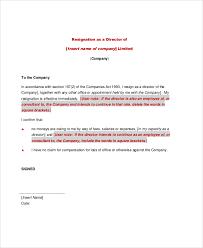 6 email resignation letter templates free word pdf format