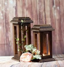 reclaimed wood lanterns rustic thanksgiving decor rustic