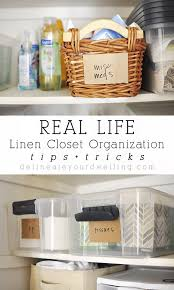 tips tricks to my real life linen closet organization