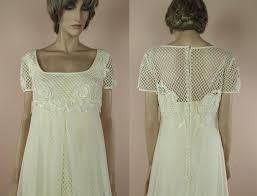 vintage ivory wedding dress 70 s vintage wedding dress ivory wedding dress from the