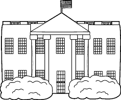 white house coloring page coloring home