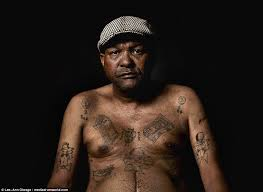 south african ex gang members show their tattoos daily mail online