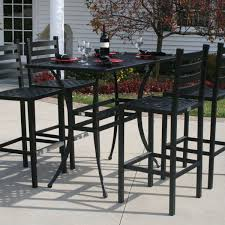 Outdoor Table And Chair Bar Height Patio Table And Chairs Patio Furniture Ideas