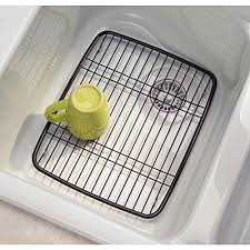 Amazoncom InterDesign Axis Kitchen Sink Protector Grid Bronze - Kitchen sink grid