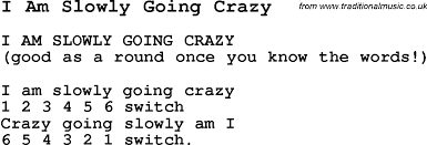 Going Crazy Summer Camp Song I Am Slowly Going Crazy With Lyrics And Chords