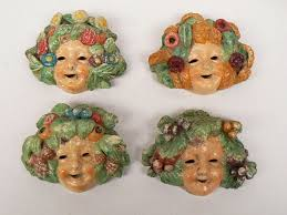 wall masks italy decorated ceramic wall masks four seasons catawiki