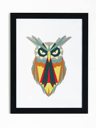 pattern art pdf owl papercut artwork diy paper creation pdf pattern printable art