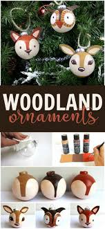 turn a plain ornament into a woodland creature easily