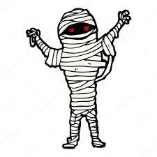 halloween mummy cartoon u2014 stock vector lineartestpilot 16287151