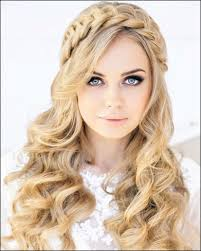 long curled hairstyle for wedding women curly wedding hairstyles