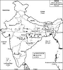 Blank Map Of Bangladesh by On The Outline Map Of India Locate And Mark With Their Names I
