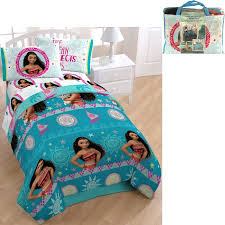 Disney Bed Sets Disney Moana Bed In A Bag 5 Piece Bedding Set With Bonus Tote