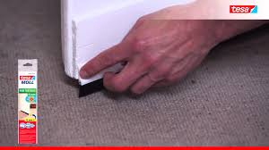 Laminate Floor Brush Super Easy Way To Insulate Doors Tesa Door To Floor Brush Youtube
