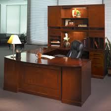 mayline sorrento series u shape executive desk with hutch