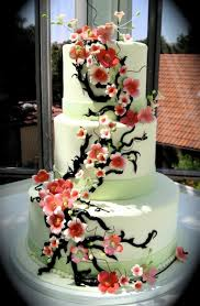 wedding quotes japanese cherry blossom wedding cake theme with different shape for each