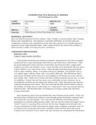 diagnostic report template school psychologist report template professional and high