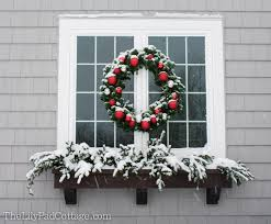 Window Box Decorations For Christmas by Outdoor Christmas Decor Adventures In Chainsaws And Christmas
