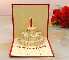 3d card birthday cake 3d pop up gift u0026 greeting 3d blessing cards