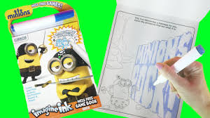 minions coloring book imagine ink mess free magic marker