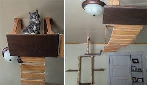 cat wall furniture off the wall cat climbing furniture made in the usa hauspanther