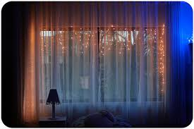 window decoration ideas lights curtains