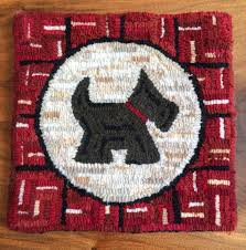 Hooked Rug Patterns Primitive Lil U0027 Scotty Dog Tartan Rug Hooking Pattern U2013 Jwrobel Handmade