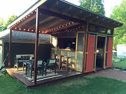 Shed Backyard Shed Plus Dining Platform Idea Shed Conversion Pinterest