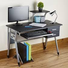 Cheap Computer Desks Uk Black Modern Style Pc Desk Abreo Home Furniture