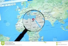 Egypt On World Map Egypt On Google Maps Editorial Stock Image Image 90256334