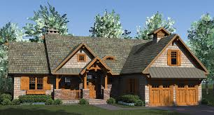 craftsman home plans home plan rustic craftsman is open with lots of storage