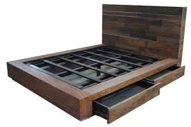 Bed Platform With Drawers Rustic Bedroom Furniture Log Bed Mission Beds Burl Wood