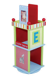 amazon com wildkin alphabet soup revolving bookcase toys u0026 games