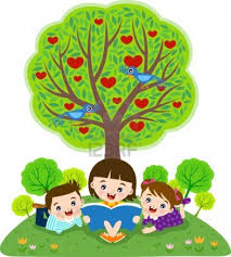 under tree clipart